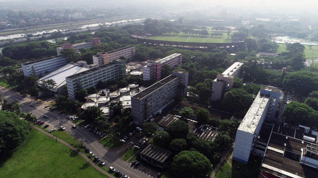 Foto panorâmica da universidade de são paulo Foto: USP Imagens