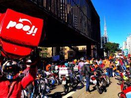 Entregadores de aplicativos fazem protesto por melhores condições de trabalho - Roberto Parizotti/Fotos Publicas