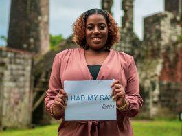 mulher de Saint Kitts e Nevis, no Caribe, respondeu a uma pesquisa da ONU sobre suas esperanças e temores para o futuro. Foto: ONU