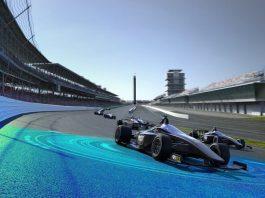 carro de corrida no circuito automobilístico de Indyanapolis, nos Estados Unidos