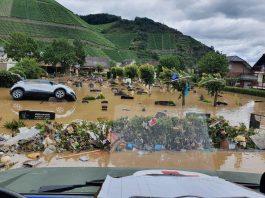 região destruida por tempestades na alemanha. foto: fotos públicas